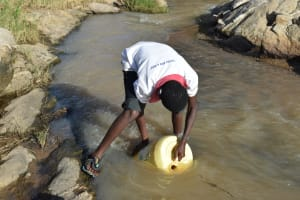 The Water Project: Yumbani Community A -  Fetching Water