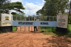 The Water Project: Mutulani Secondary School -  School Gate And Sign