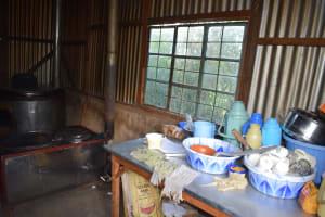 The Water Project: Kimuuni Secondary School -  Inside Kitchen