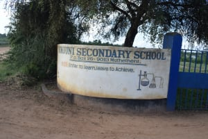 The Water Project: Kimuuni Secondary School -  School Sign