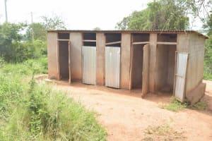 The Water Project: Kamuwongo Primary School -  Girls Latrines