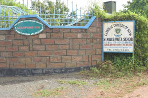 The Water Project: St. Paul Waita Secondary School -  School Sign And Gate
