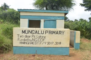 The Water Project: Mung'alu Primary School -  Boys Latrines