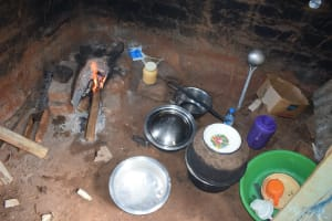 The Water Project: Mung'alu Primary School -  Inside Kitchen