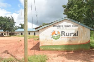 The Water Project: Mung'alu Primary School -  School Building And Sign