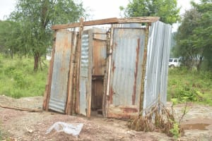 The Water Project: Ndithi Primary School -  Boys Latrines