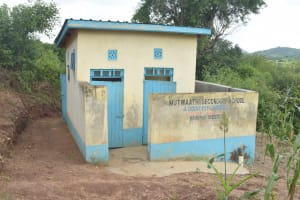 The Water Project: Mutwaathi Secondary School -  Boys Latrines
