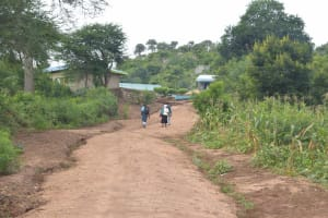 The Water Project: Mutwaathi Secondary School -  Road To School