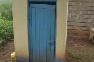 The Water Project: Mutwaathi Secondary School -  Staff Latrines
