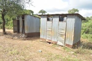 The Water Project: Kalatine Primary School -  Girls Latrines