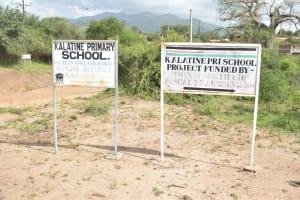 The Water Project: Kalatine Primary School -  School Sign