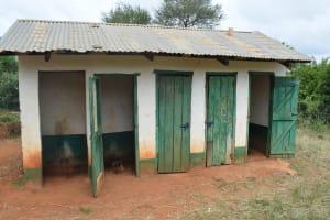 The Water Project: Mukuku Mixed Secondary School -  Boys Latrine