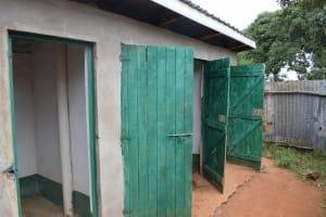 The Water Project: Mukuku Mixed Secondary School -  Girls Latrines