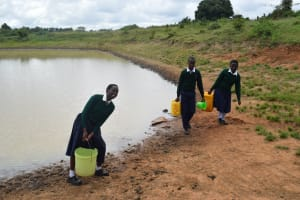 The Water Project: Mukuku Mixed Secondary School -  Hauling The Water