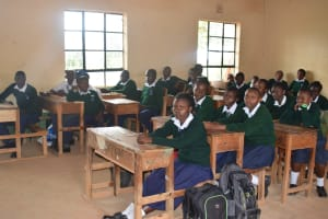 The Water Project: Mukuku Mixed Secondary School -  Students In Class