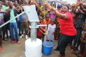 The Water Project: Transmitter, #14 Port Loko Road -  Dancing And Celebration At The Well