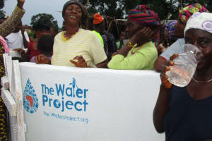 The Water Project: Transmitter, #14 Port Loko Road -  Drinking From The Well