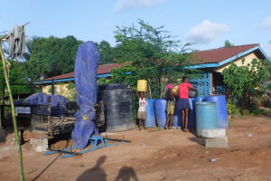The Water Project: Transmitter, #14 Port Loko Road -  Fetching Water To Use For Drilling