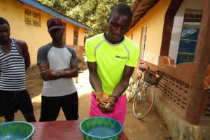 The Water Project: Transmitter, #14 Port Loko Road -  Handwashing Demonstration