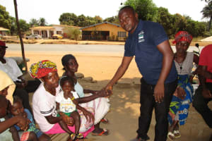 The Water Project: Transmitter, #14 Port Loko Road -  Lesson On Disease Transfer Through Handshaking