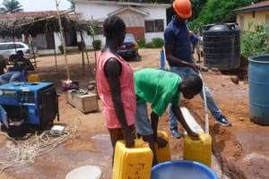 The Water Project: Transmitter, #14 Port Loko Road -  Yield Test