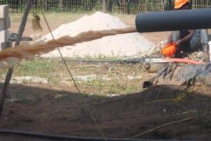 The Water Project: Lokomasama, Musiya, Nelson Mandela Secondary School -  Bailing The Well