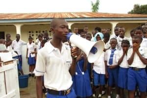 The Water Project: Lokomasama, Musiya, Nelson Mandela Secondary School -  Head Boy Delivers Speech