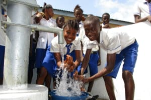 The Water Project: Lokomasama, Musiya, Nelson Mandela Secondary School -  Head Girl And Head Boy At The Well