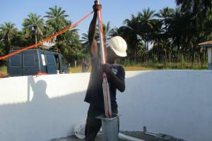 The Water Project: Lokomasama, Musiya, Nelson Mandela Secondary School -  Installing The Pump
