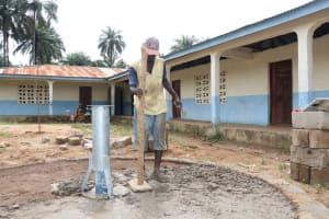 The Water Project: Lokomasama, Musiya, Nelson Mandela Secondary School -  Pad Construction