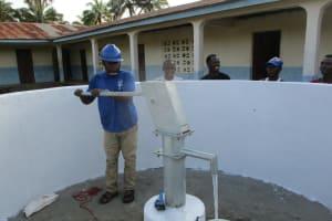 The Water Project: Lokomasama, Musiya, Nelson Mandela Secondary School -  Testing The Pump