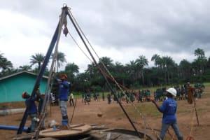 The Water Project: Lokomasama, Bompa, DEC Bompa Primary School -  Drilling