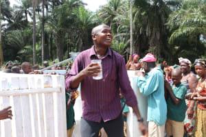 The Water Project: Lokomasama, Bompa, DEC Bompa Primary School -  Head Teacher Makes Remarks At The Dedication