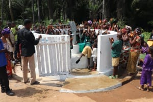 The Water Project: Lokomasama, Bompa, DEC Bompa Primary School -  People Gathered At The New Well