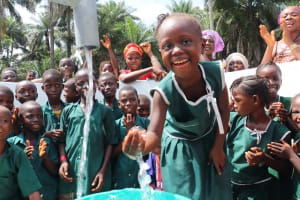 The Water Project: Lokomasama, Bompa, DEC Bompa Primary School -  Students With Their New Well