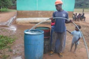 The Water Project: Lokomasama, Bompa, DEC Bompa Primary School -  Yield Test