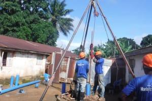 The Water Project: Lungi, Rotifunk, 1 Aminata Lane -  Drilling