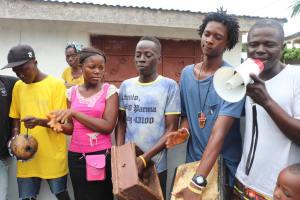 The Water Project: Lungi, Rotifunk, 1 Aminata Lane -  Drummers At The Well Dedication