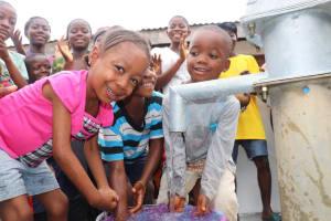 The Water Project: Lungi, Rotifunk, 1 Aminata Lane -  Kids At The Well