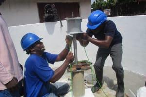 The Water Project: Lungi, Rotifunk, 1 Aminata Lane -  Pump Installation