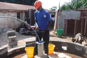 The Water Project: Lungi, Rotifunk, 1 Aminata Lane -  Yield Test