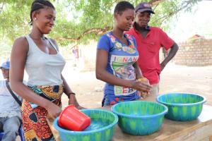 The Water Project: Lungi, Yaliba Village -  Handwashing Demonstration