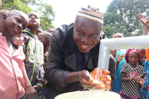 The Water Project: Lungi, Yaliba Village -  Happy For A Safe Drinking Water