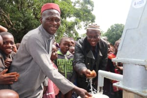 The Water Project: Lungi, Yaliba Village -  Imam At The New Well