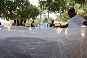 The Water Project: Lungi, Yaliba Village -  Mosquito Net Lesson