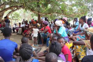 The Water Project: Lungi, Yaliba Village -  People Listen To Training Facilitator