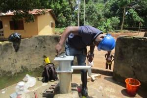 The Water Project: Lungi, Yaliba Village -  Pump Installation
