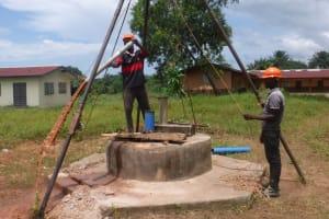 The Water Project: Lungi, Komkanda Memorial Secondary School -  Bailing The Well