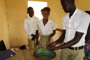 The Water Project: Lungi, Komkanda Memorial Secondary School -  Handwashing