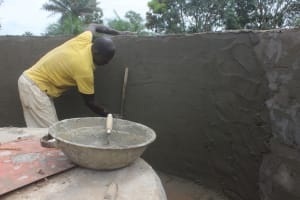 The Water Project: Lungi, Komkanda Memorial Secondary School -  Pad Construction
